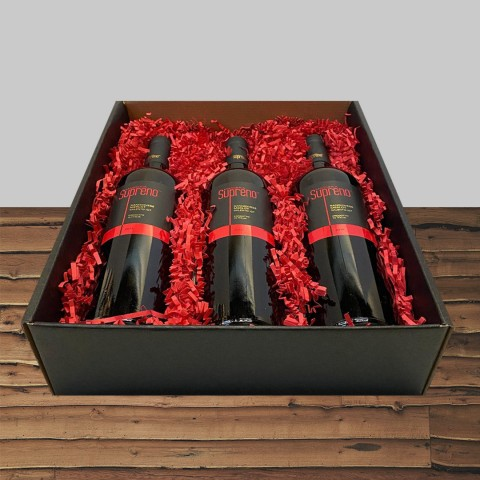 MASSERIA SUPRENO SANGIOVESE/MERLOT 2015 3-BOTTLE GIFT BOX