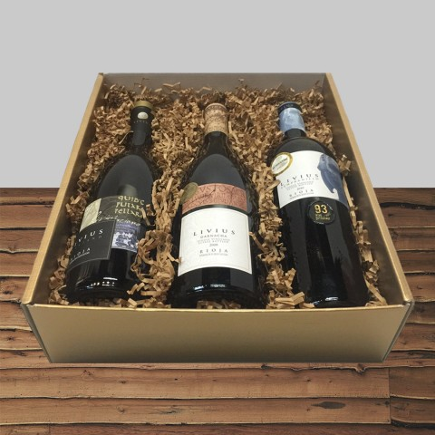 LIVIUS COLLECTION AUTHOR WINES FROM CENTENARY VINES 3-BOTTLE GIFT BOX